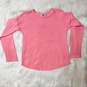 Old Navy Girls Pink Knit Sweater size M (8)